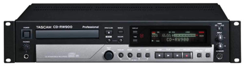 Tascam CDRW-900 CD Recorder with Mp3 Playback - ProSound and Stage Lighting