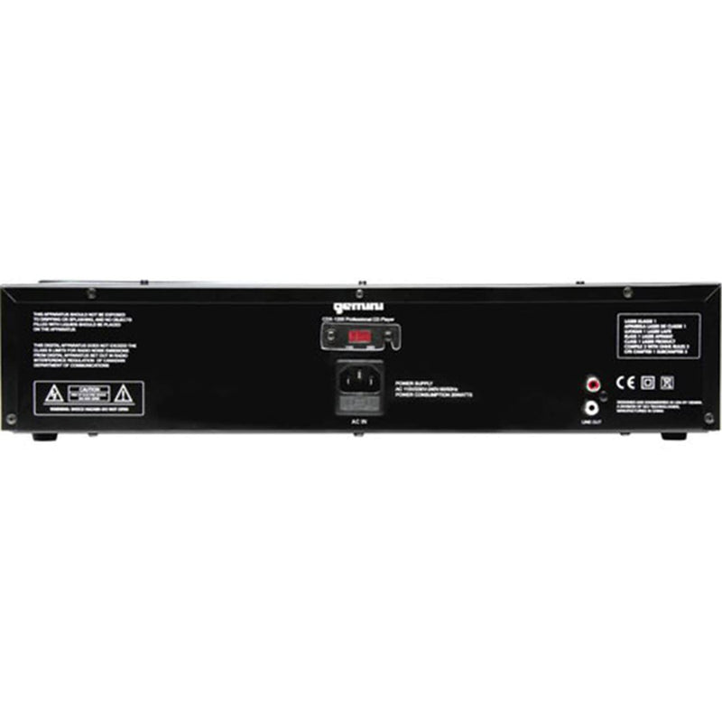 Gemini CDX-1200 2U Single CD player - PSSL ProSound and Stage Lighting