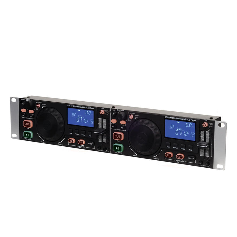 Gemini CDX-2410 Dual Rack Mount MP3/ CD Player - PSSL ProSound and Stage Lighting