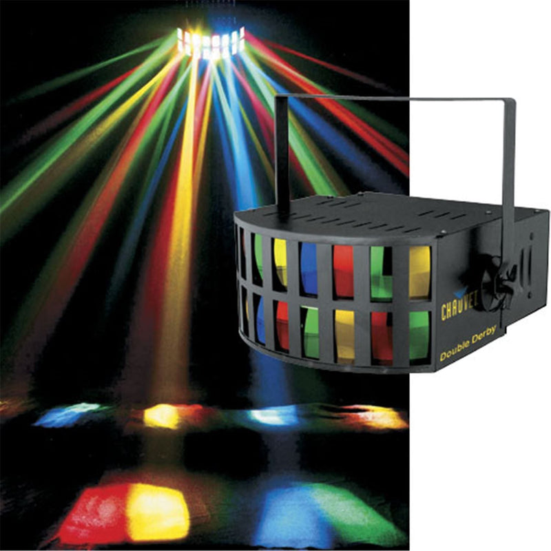 Chauvet DOUBLE DERBY Effects Light (2 X 64514) - ProSound and Stage Lighting