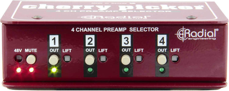 Radial Cherry Picker Passive 1x4 Selector - PSSL ProSound and Stage Lighting