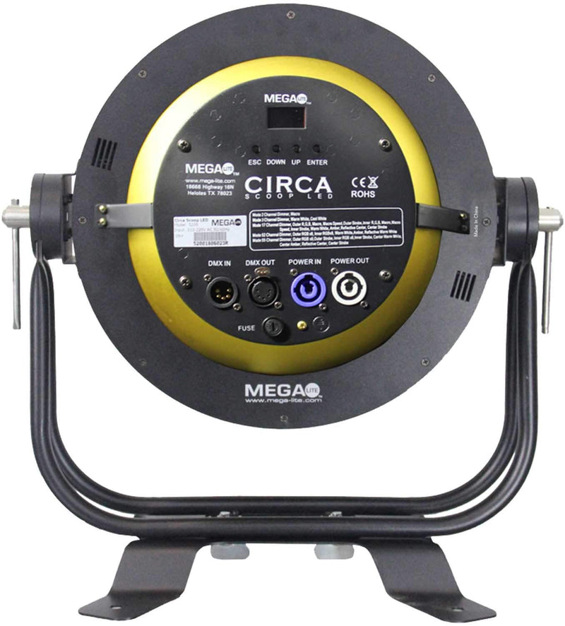 Mega Lite Circa Scoop LED Multi Segment Effect & Wash Light - ProSound and Stage Lighting