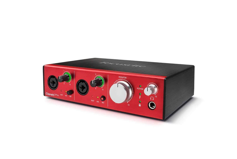 Focusrite Clarett 2 Pre 10x4 Thunderbolt Interface - PSSL ProSound and Stage Lighting