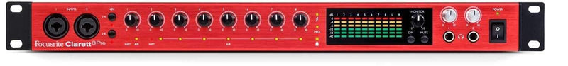 Focusrite Clarett 8Pre USB 18-in, 20-out Audio Interface - PSSL ProSound and Stage Lighting