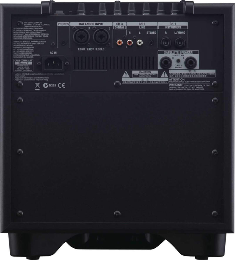 Roland CM-110 100W 2.1 Monitor System (Black) - ProSound and Stage Lighting