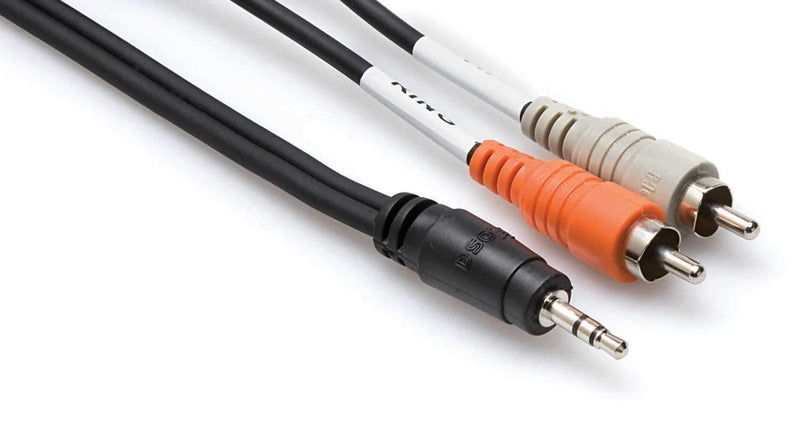 Hosa CMR-206 6 Ft 1/8-Inch Stereo (M) to Left & Right RCA (M) Cable - ProSound and Stage Lighting