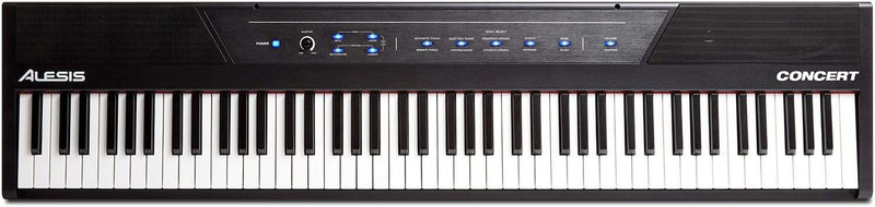 Alesis Concert 88-Key Semi-Weighted Digital Piano - PSSL ProSound and Stage Lighting