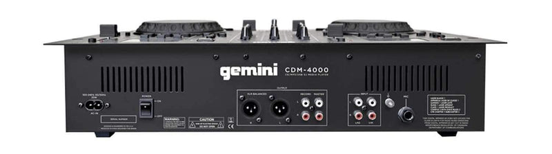 Gemini CDM-4000 DJ Media Player with Headphones - PSSL ProSound and Stage Lighting