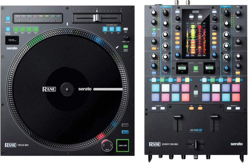 RANE Seventy Two MKII DJ Mixer w/ Twelve MKII Turntable Controller - PSSL ProSound and Stage Lighting