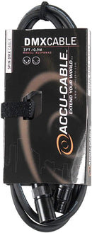 Accu-Cable AC5PDMX3 3 Foot 5 Pin DMX Cable - PSSL ProSound and Stage Lighting
