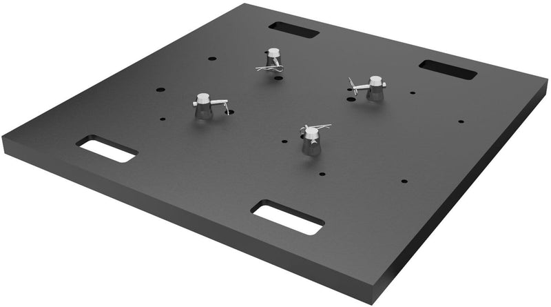 Global Truss Black 30 x 30 x 1.5-Inch Base Plate for DT Truss - PSSL ProSound and Stage Lighting