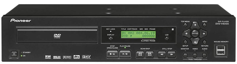Pioneer DVDV8000 Pro Rackmount Dvd Player - PSSL ProSound and Stage Lighting