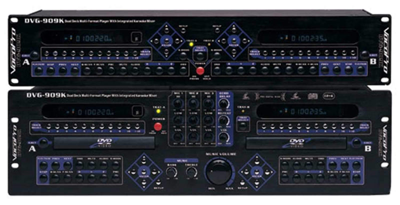 Vocopro DVG909K Dual Deck Player with Built In Mixer - PSSL ProSound and Stage Lighting
