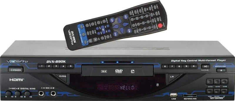 Vocopro DVX890K Multi Format Karaoke Media Player - PSSL ProSound and Stage Lighting