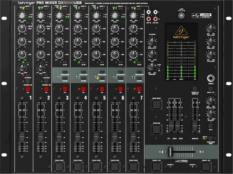 Behringer DX2000USB 7-Channel DJ Mixer with USB - PSSL ProSound and Stage Lighting