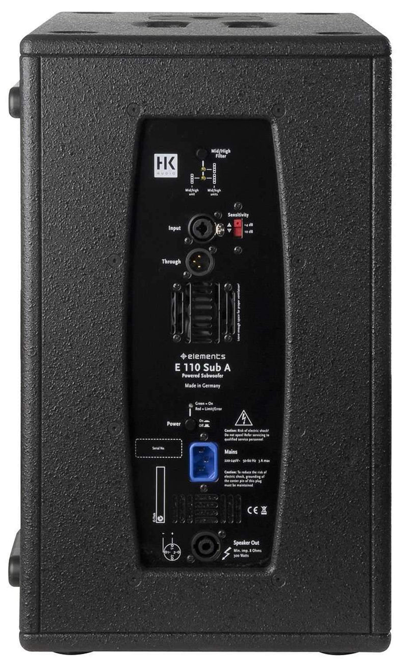 HK Audio E110SUBA HK Elements Powered Subwoofer - PSSL ProSound and Stage Lighting
