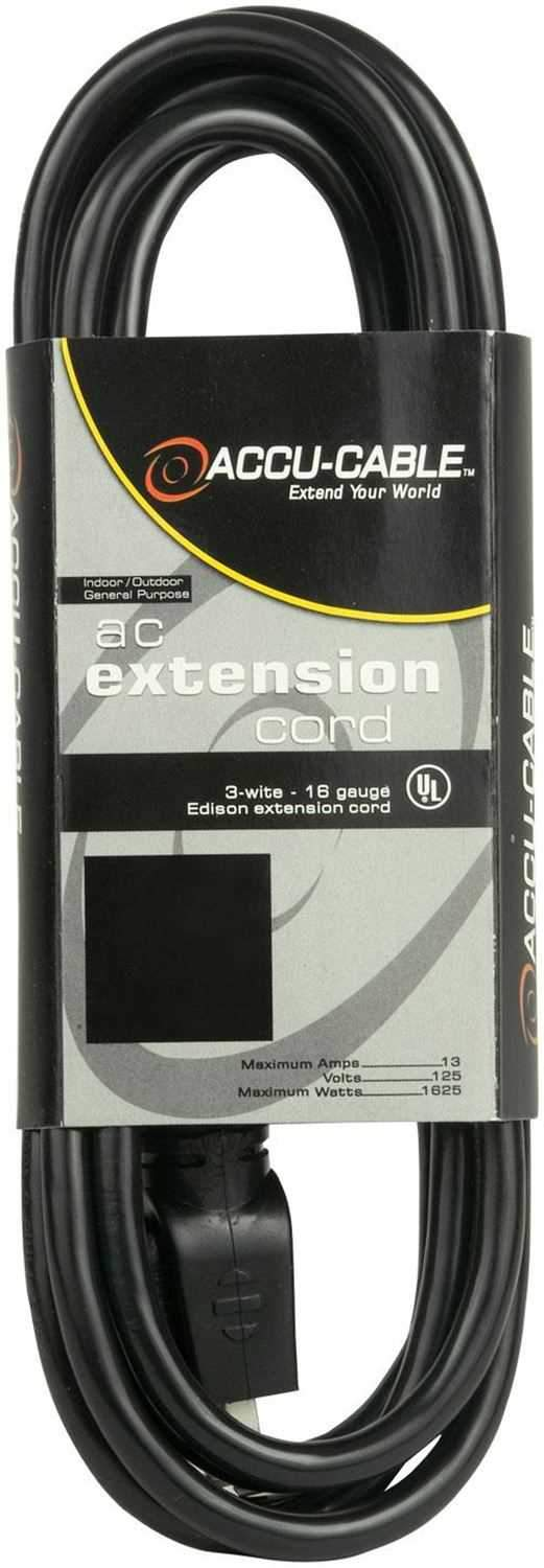 Accu-Cable EC16350 50 Ft 16G Black Extension Cable - ProSound and Stage Lighting