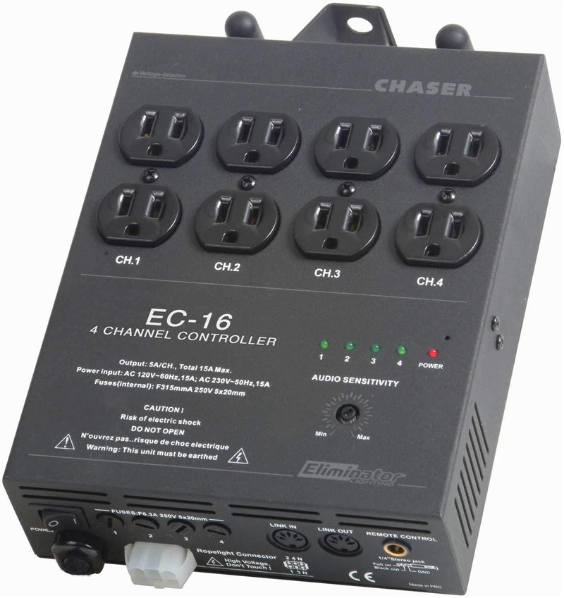 Eliminator EC16 4 Ch Sound Active Light Controller - ProSound and Stage Lighting