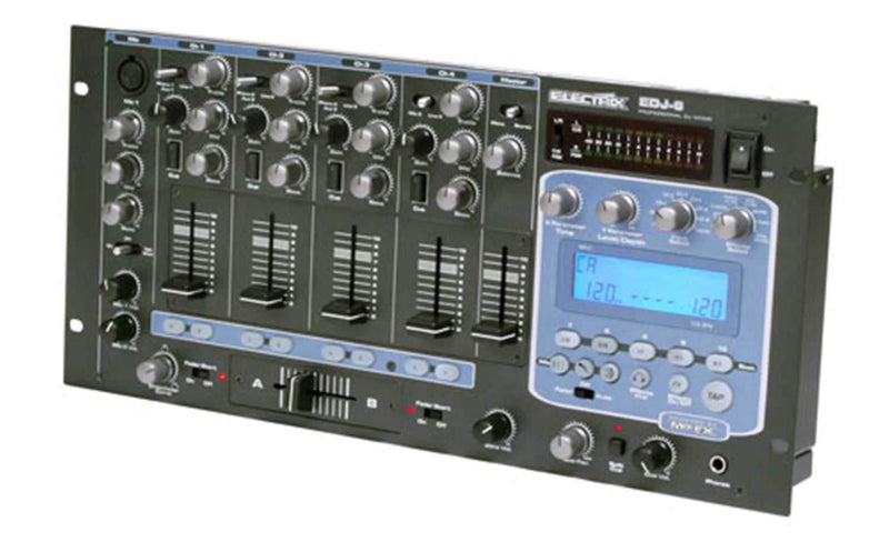 Electrix EDJ-6 4-Channel DJ Mixer With DSP Effects - ProSound and Stage Lighting