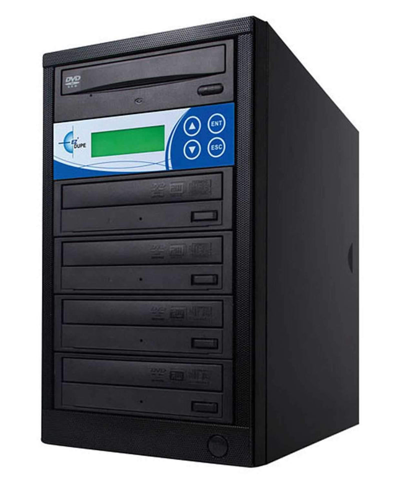 EZ-Dupe EDL4 4 Target DVD/CD Duplicator - Black - ProSound and Stage Lighting