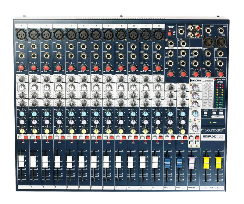 Soundcraft EFX12 12-Channel Mixer with FX - PSSL ProSound and Stage Lighting