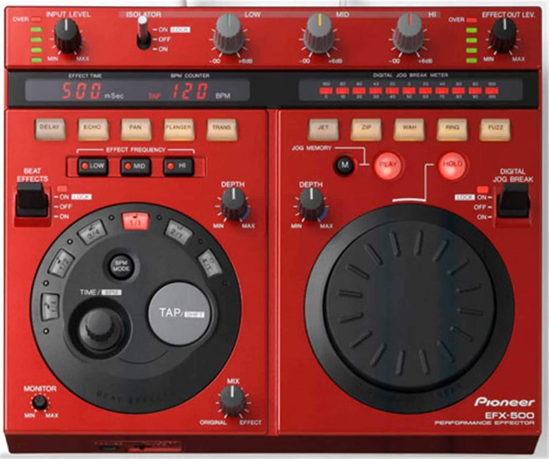 Pioneer EFX500R DJ Effects Unit In Red - ProSound and Stage Lighting