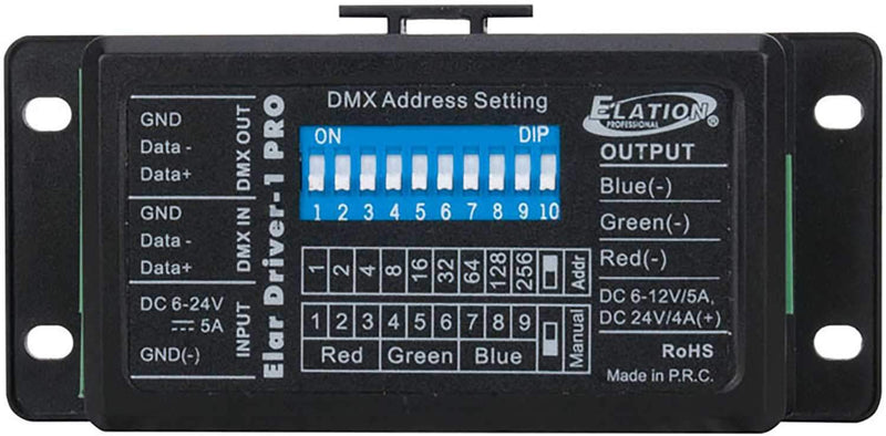 Elation ELAR DRIVER1 PRO 3-Channel RGB LED DMX Driver - ProSound and Stage Lighting