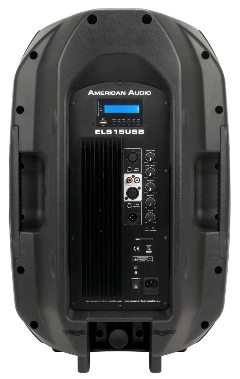 American Audio ELS15A-USB 15inch Powered Speaker - PSSL ProSound and Stage Lighting