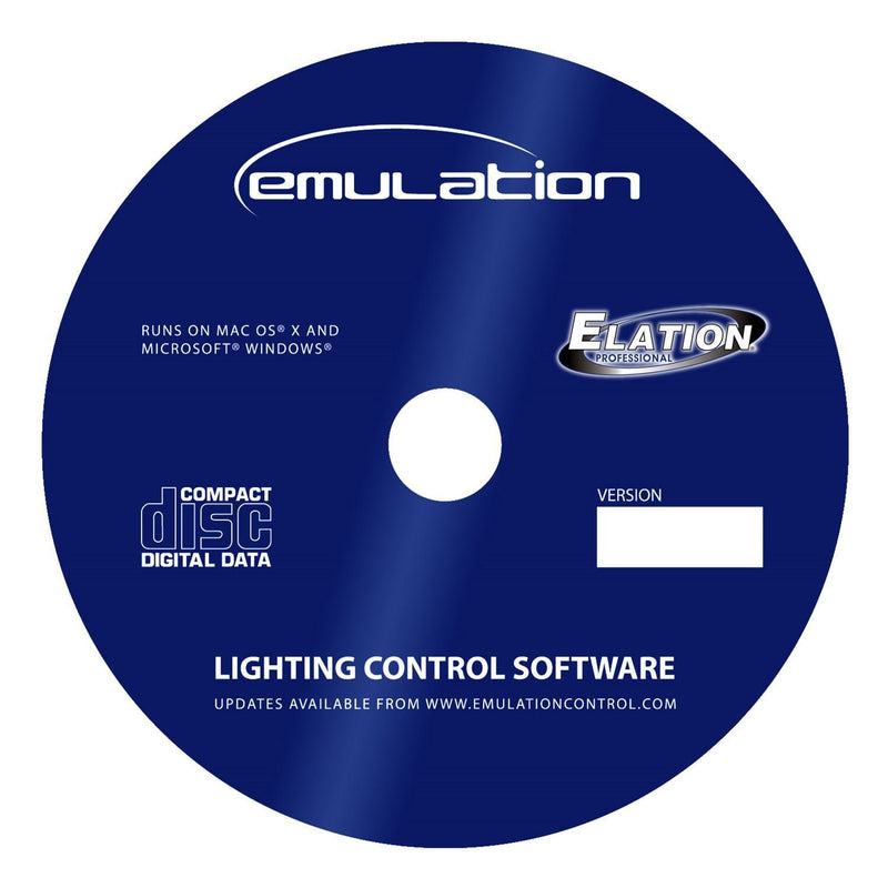 Elation Emulation Mac & PC DMX Control Software - PSSL ProSound and Stage Lighting