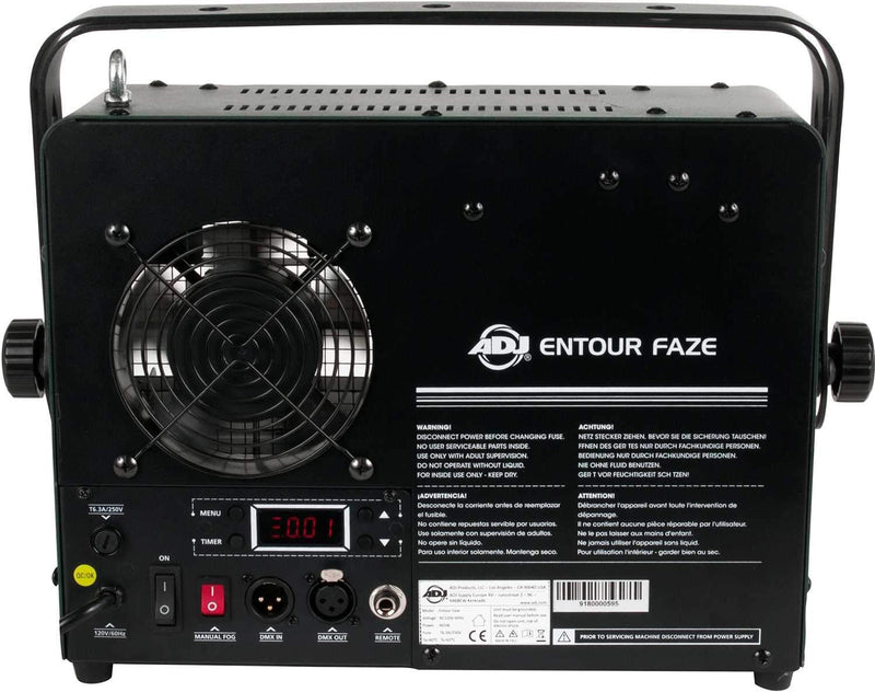 ADJ American DJ Entour Faze 450W Faze Machine with DMX - PSSL ProSound and Stage Lighting
