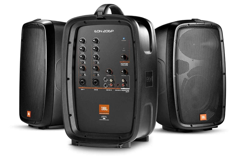 JBL EON206P 6-Channel Compact Portable PA System - ProSound and Stage Lighting