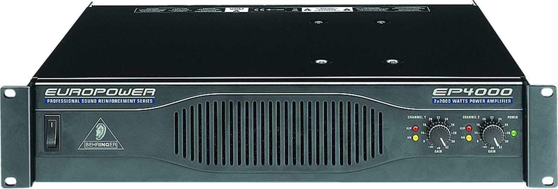 Behringer Europower EP4000 Professional Stereo Power Amplifier - PSSL ProSound and Stage Lighting