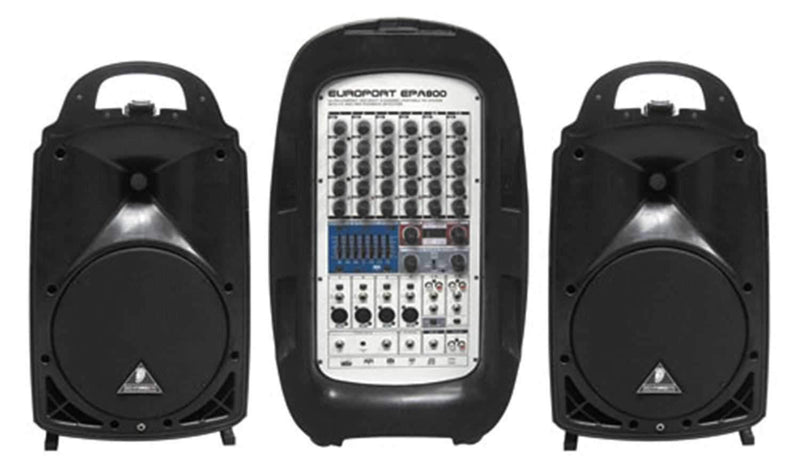 Behringer Europort EPA-800 800W 8 Ch Portable PA - ProSound and Stage Lighting