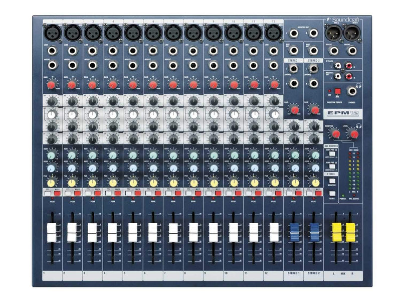 Soundcraft EPM-12 Multipurpose 12 Channel Mixer - PSSL ProSound and Stage Lighting