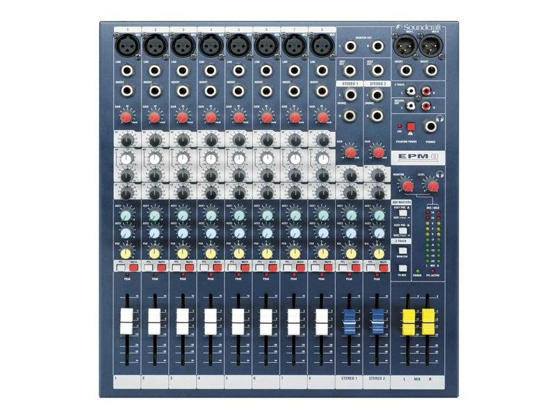 Soundcraft EPM-8 Multipurpose 8 Channel Mixer - ProSound and Stage Lighting