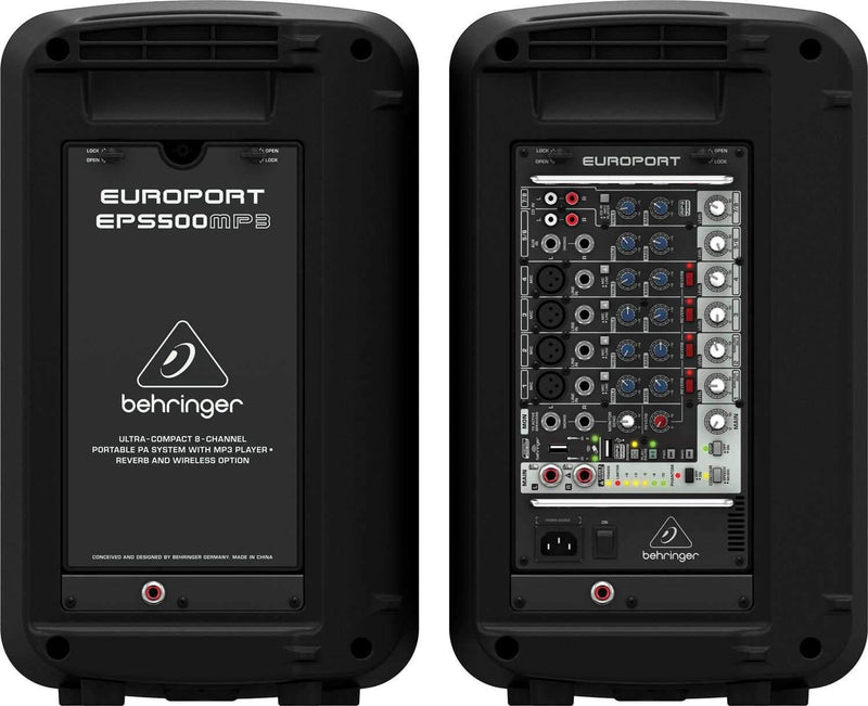 Behringer Europort EPS500MP3 Portable PA System - PSSL ProSound and Stage Lighting