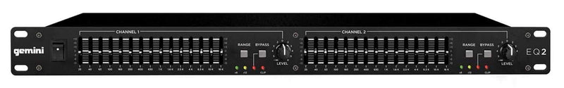 Gemini EQ2 Dual 15 Band PA EQ - PSSL ProSound and Stage Lighting