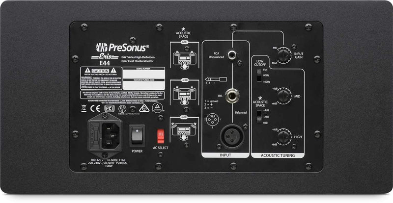 PreSonus Eris E44 Dual 4-Inch Powered Monitor - PSSL ProSound and Stage Lighting