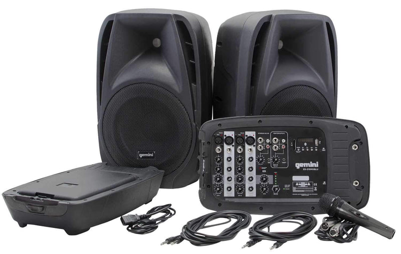 Gemini ES-210MX-BLU Portable PA System w Bluetooth - PSSL ProSound and Stage Lighting