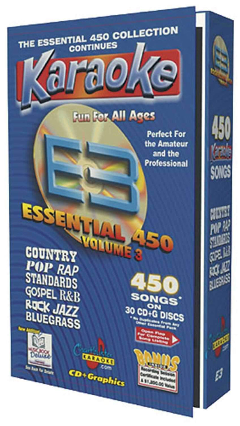 Chartbuster 450 Essential Karaoke Hits Volume 3 - ProSound and Stage Lighting