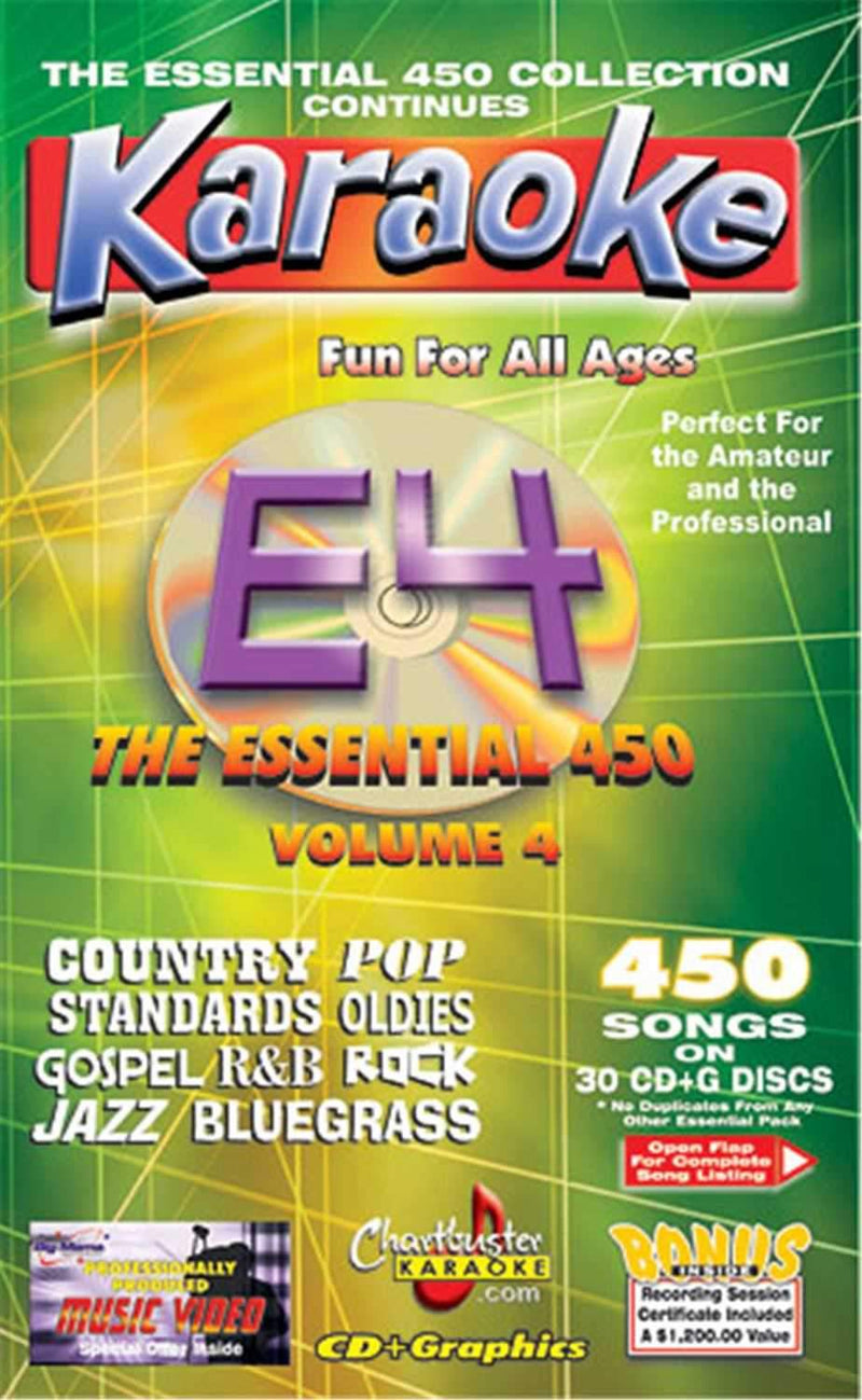 Chartbuster 450 Essential Karaoke Hits Volume 4 - PSSL ProSound and Stage Lighting