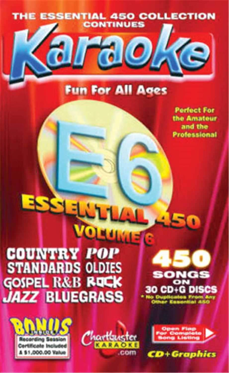 Chartbuster 450 Essential Karaoke Hits Volume 6 - ProSound and Stage Lighting