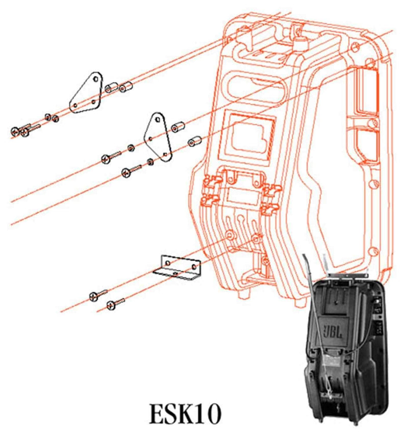 JBL ESK10 Mounting Bracket For Eon10G2 - PSSL ProSound and Stage Lighting