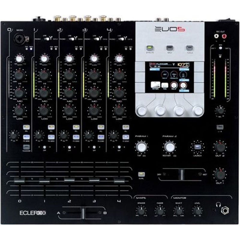 ECLER EVO-5 4-Channel Club DJ Mixer with MIDI/FX/FW - PSSL ProSound and Stage Lighting