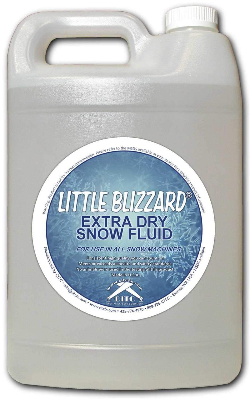 CITC Little Blizzard Extra Dry Snow Fluid 1 Gallon - ProSound and Stage Lighting