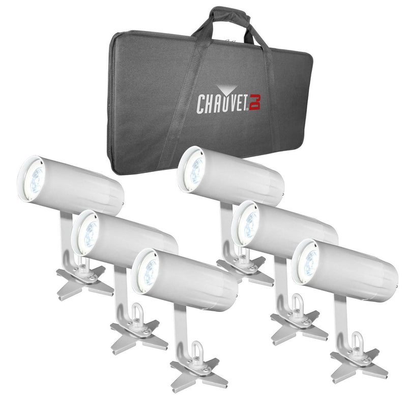 Chauvet EZpin Pack System with 6 LED Pinspot Lights - ProSound and Stage Lighting