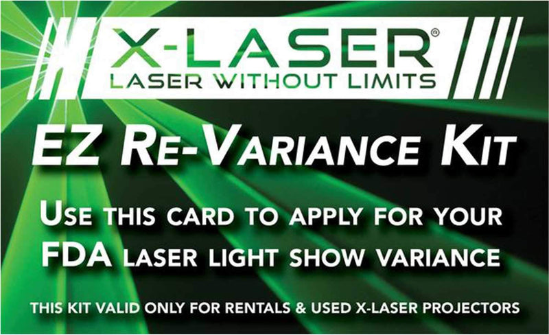 X-Laser EZ Re-Variance Kit (for rentals/used) - PSSL ProSound and Stage Lighting