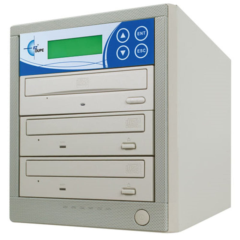 EZ-Dupe EZD2TCD 1 x 2 CD Duplicator - Beige - PSSL ProSound and Stage Lighting