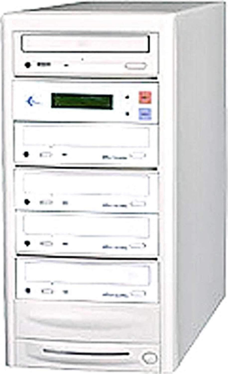 EZ-Dupe EZD4TDVD 1 x 4 DVD Duplicator - Beige - PSSL ProSound and Stage Lighting