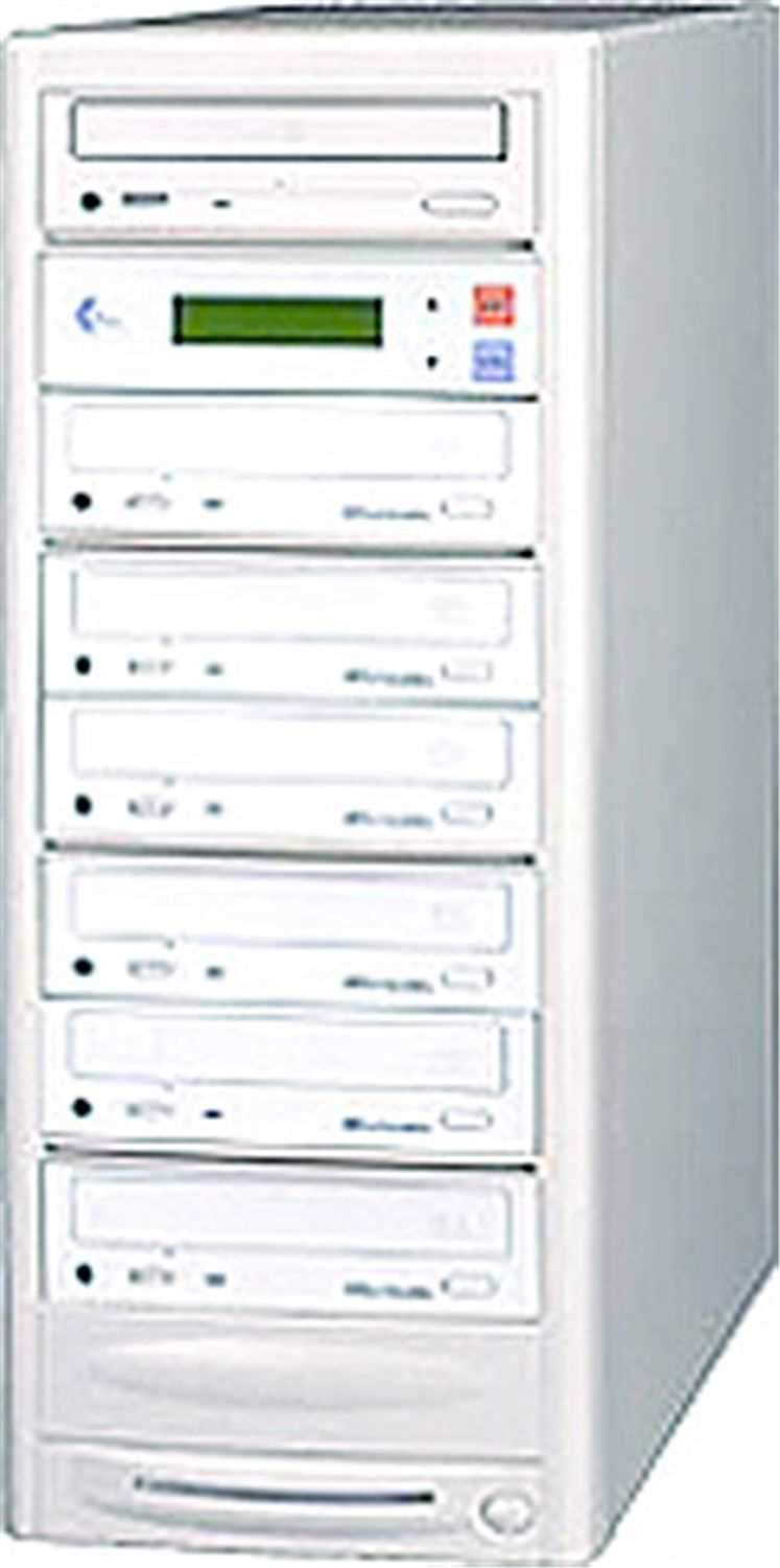 EZ-Dupe EZD6TDVD 1 x 6 DVD Duplicator - Beige - PSSL ProSound and Stage Lighting